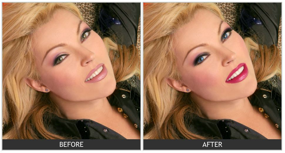 Landmark detection for virtual makeover.