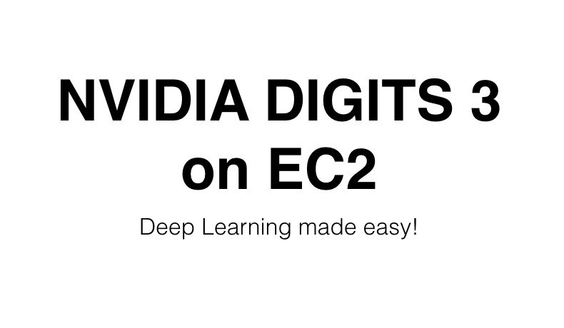 NVIDIA DIGITS 3 on EC2