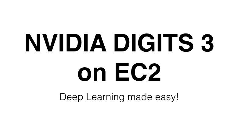 NVIDIA DIGITS 3 on EC2.
