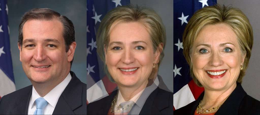 Ted Cruz Hillary Clinton Morph