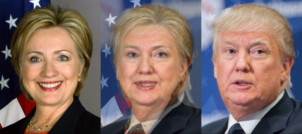 Face Morph : Hillary Clinton and Donald Trump