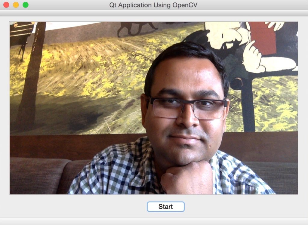 Qt / OpenCV Application Screenshot