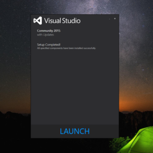 Installing Visual Studio 2015
