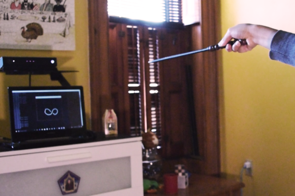 Using Harry Potter interactive wand with OpenCV to create magic