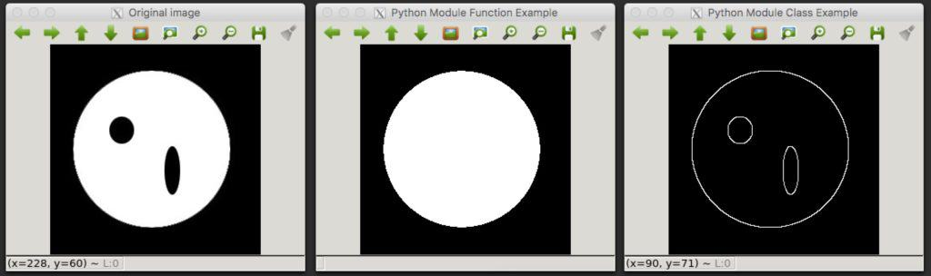 Python Module from OpenCV C++ Example