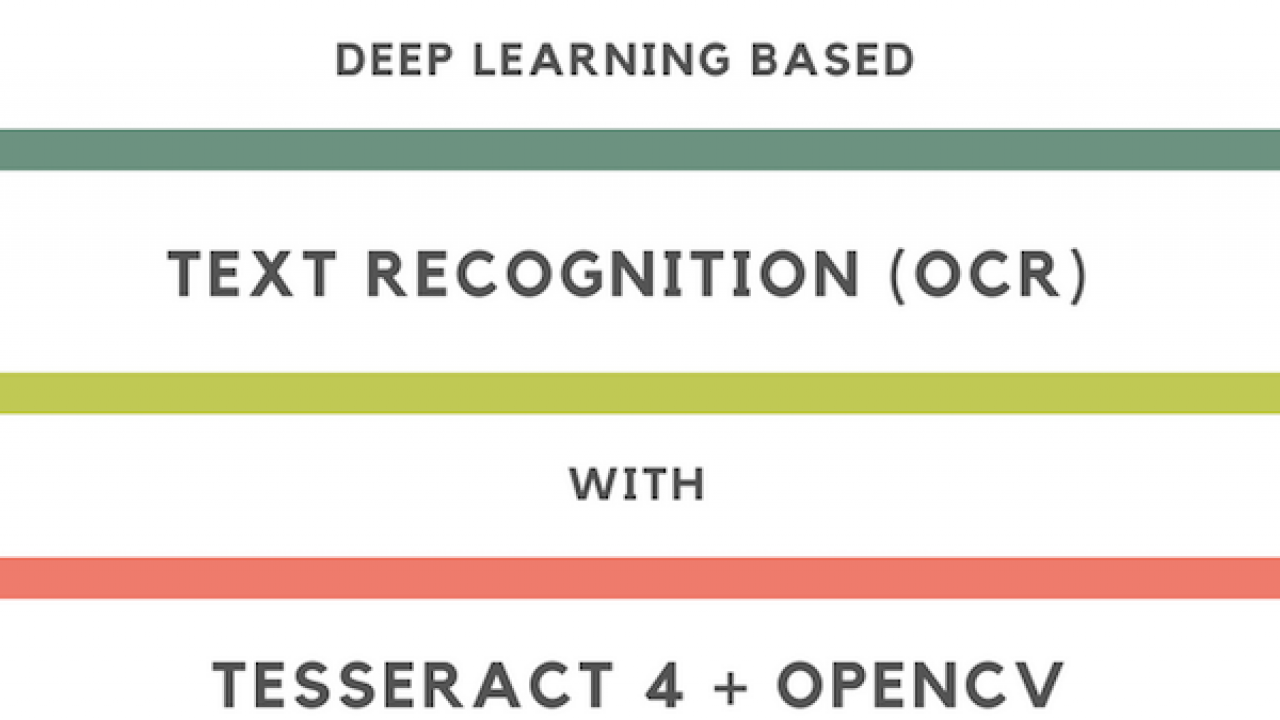 Deep Learning based Text Recognition (OCR) using Tesseract