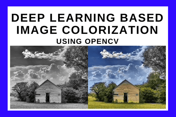 Convolutional Neural Network based Image Colorization using OpenCV