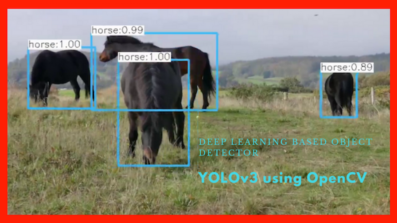 Deep Learning based Object Detection using YOLOv3 with