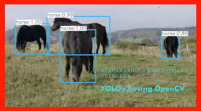 Deep Learning based Object Detection using YOLOv3 with OpenCV