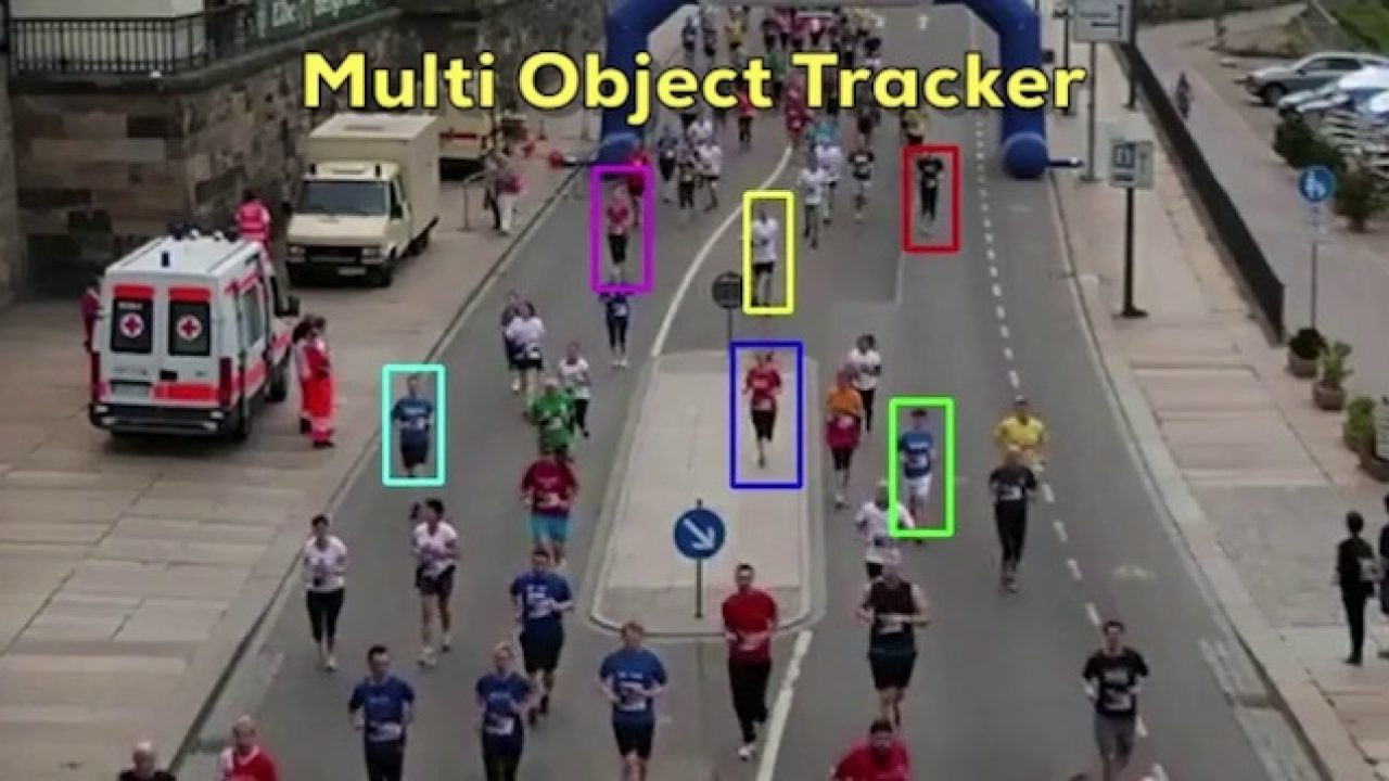MultiTracker : Multiple Object Tracking using OpenCV (C++/