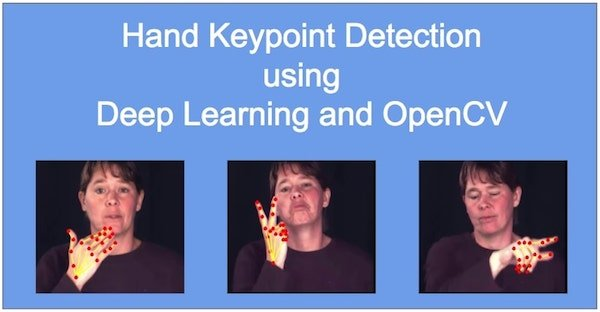 Hand Keypoint Detection using Deep Learning and OpenCV