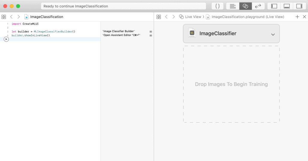 image classifier in Xcode