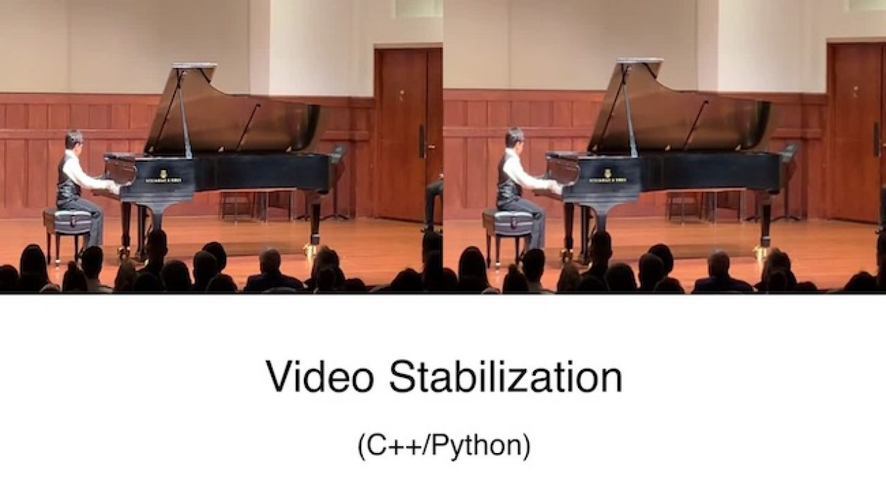 Video Stabilization Using Point Feature Matching in OpenCV