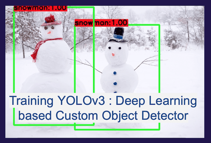 Training YOLOv3 : Deep Learning based Custom Object Detector | Learn