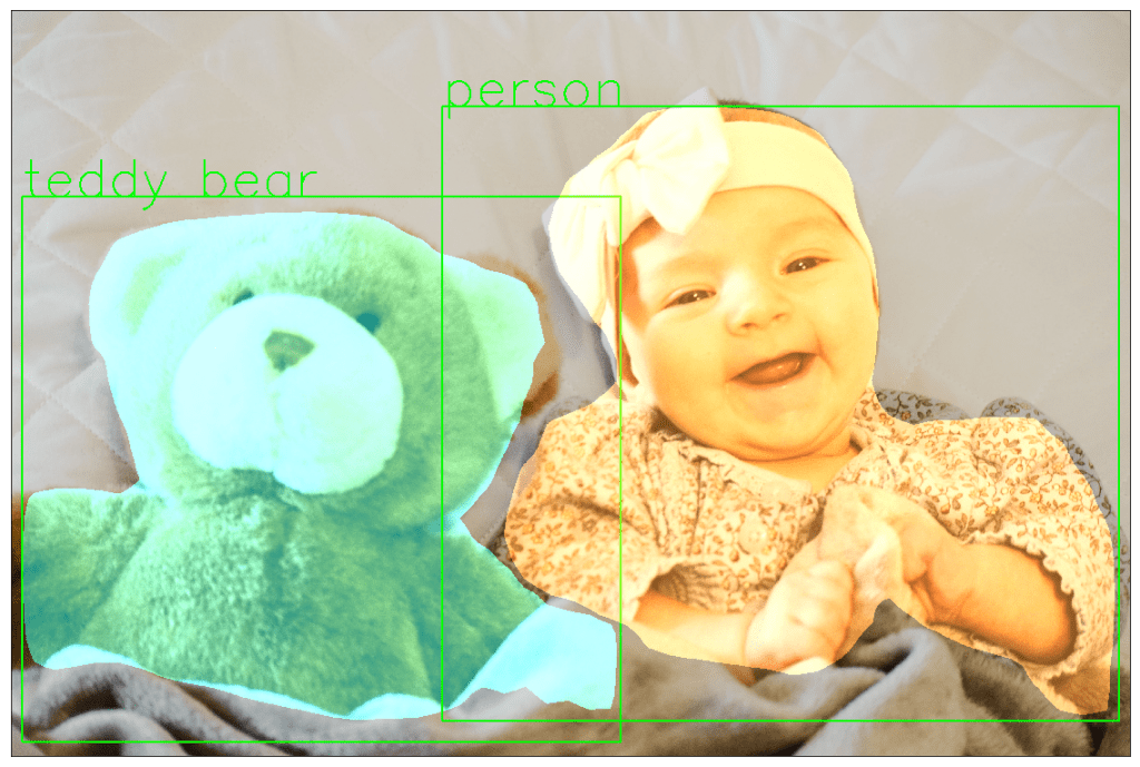 Mask RCNN result for teddy